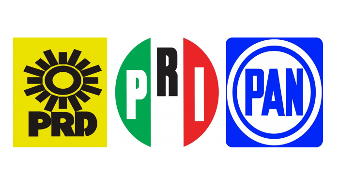 """PAN, PRI y PRD anuncian coalición """"Va por México"""" para el proceso electoral de 2021"""