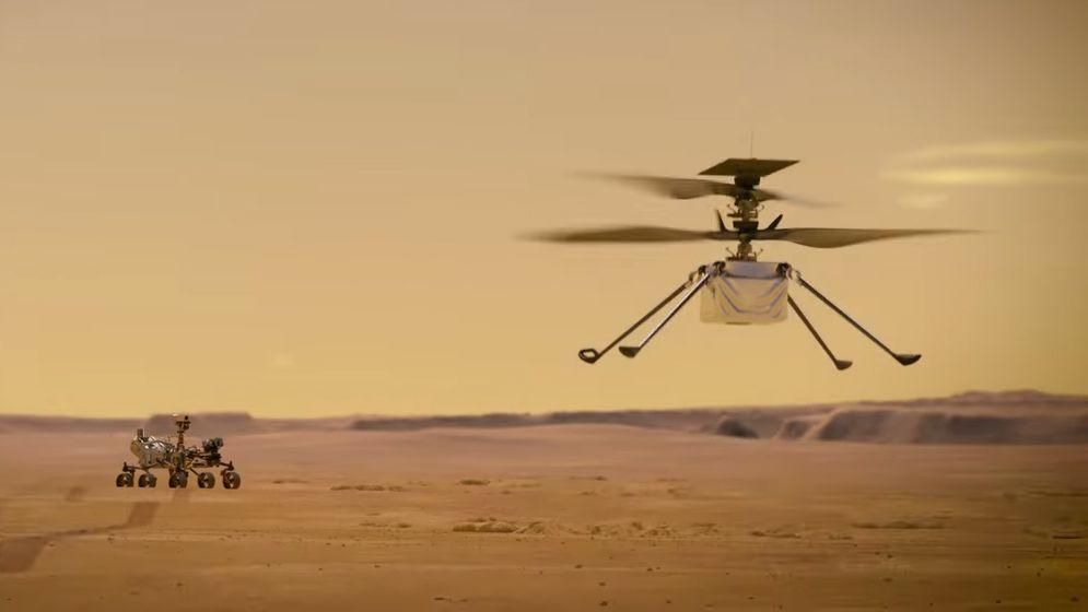 El primer helicóptero espacial de la NASA se acerca a Marte