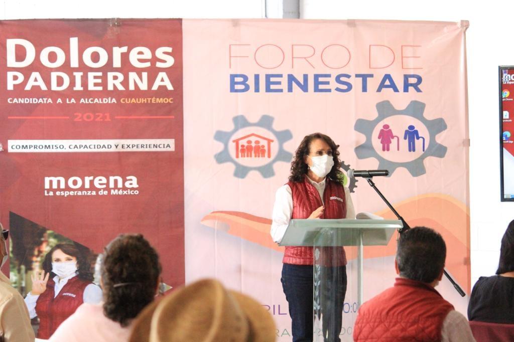 Dolores Padierna de compromete a combatir la pobreza