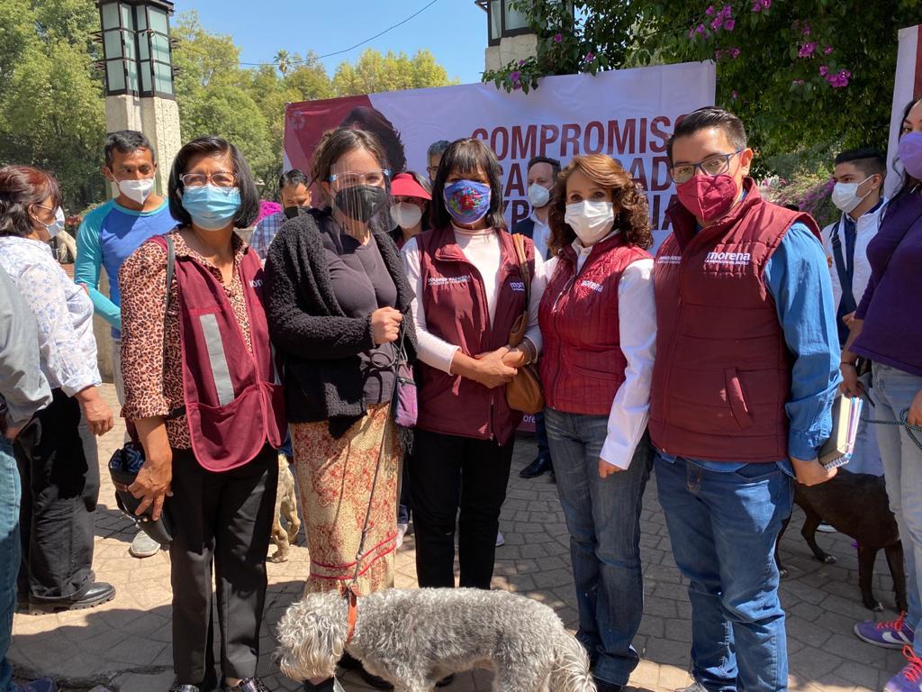 La candidata de MORENA, Dolores Padierna Luna guarda un gran compromiso con el respeto a la vida animal.